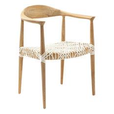 Safavieh Bentley Teak Arm Chair in Light Oak