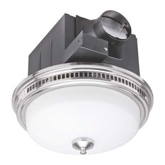 Monument 110 Cfm Bathroom Exhaust Ventilation Fan With Light Steel Bpt14 24al