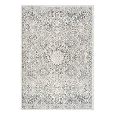 Traditional Honeycomb Labyrinth Grey Area Rug, 122x183 cm