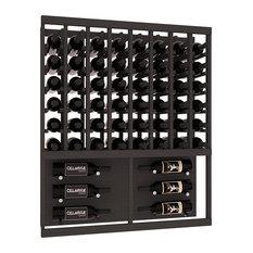 Wine Racks America CellarVue Ponderosa Pine Wall Series Case, Black Stain