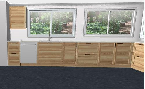 Kitchen Sink Centered Or Off Centered Under Large Kitchen Window