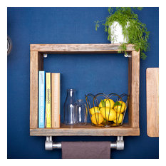 Reclaimed TImber and Pip Kitchen Shelving Unit