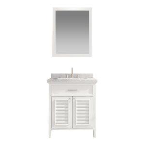 "Kensington Vanity, White, 30""x21.5""x33.5"", Single Sink"