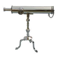 "10"" Polished Brass Victorian Desk Telescope"