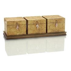 Box Set JOHN-RICHARD Capiz Shell 3 Clasps