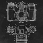 Keep Calm Collection - Photographic Camera Patent Art Print - High quality print on durable paper. Size: 12 x 18 inches. Printed in the USA and suitable for framing.