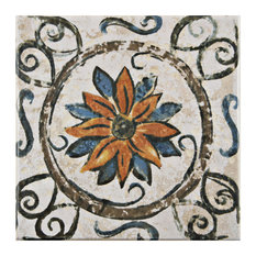 "SomerTile 7.75""x7.75"" Provence Tradition Ceramic Floor/Wall Tile, Cornflower"