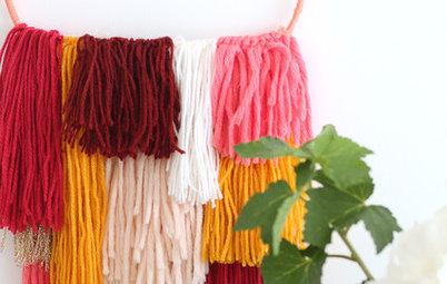 DIY : Un tissage en laine réchauffe les murs de la maison