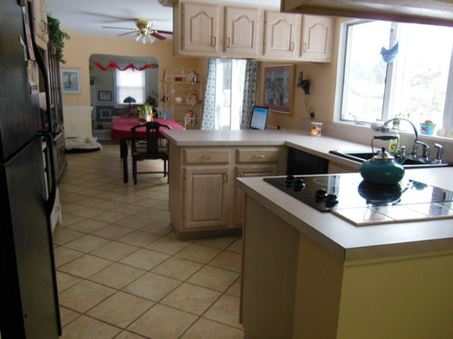 Need ideas for re-designing a long, rectangular-shaped kitchen