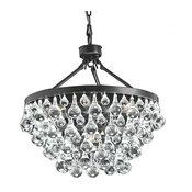 Modern Style Glass Crystal 5-Light Luxury Chandelier Antique Bronze Chandelier