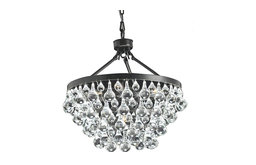 Modern Style Glass Crystal 5-Light Luxury Chandelier Antique Bronze Chandelier