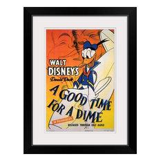 """A Good Time for a Dime (1941)"" Black Framed Art Print, 20""x26""x1"""