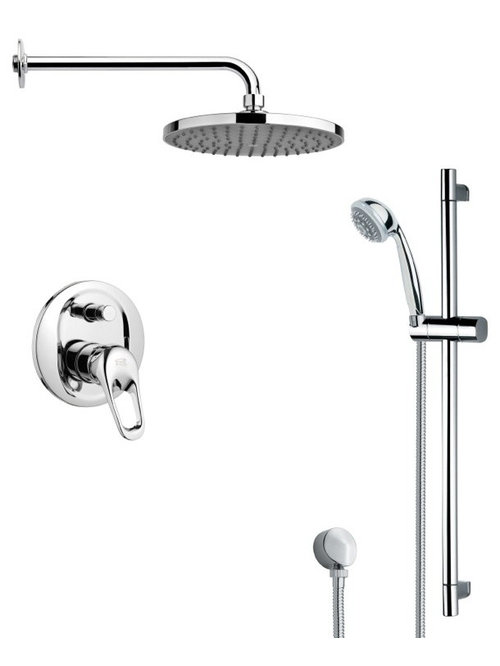 modern chrome shower system with rain showerhead showerheads and body sprays