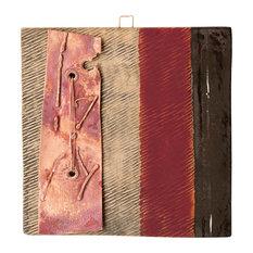 "Serra Handmade Clay And Copper Decorative Tile, 6"""