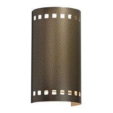 Basics Wall Sconce, Smokey Brass Finish, LED - Wet