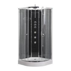 Opus Quadrant Shower Cabin, Black, 900x900 mm