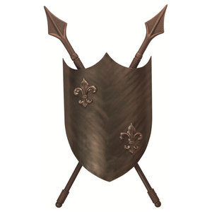 Medieval Style Double Wall Light, Burnished Bronze