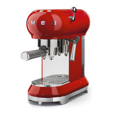 50's Retro Style Aesthetic Espresso Coffee Machine, Red
