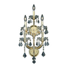 Maria Theresa 5-Light Gold Wall Sconce, Clear Spectra Swarovski Crystal