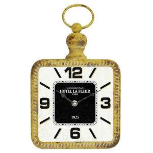 EMDE Yellow Metal Wall Clock