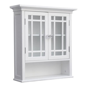 Elegant Home Fashions Neal 2-Door Wall Cabinet, White