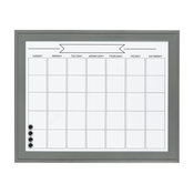 Bosc Framed Magnetic Dry Erase Calendar Wall Organization Board, Gray