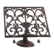 Cast Iron Cookbook Stand, Antique Brown