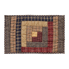 Millsboro Log Cabin Block Quilted Placemat, Set of 6