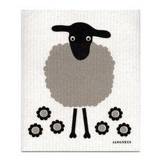 Jangneus - Swedish Dishcloth - Grey Big Sheep - Dish Towels