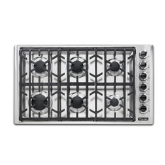 "Viking Range Corporation - Viking 36"" Wide Natural Gas Cooktop Stainless Steel - Cooktops"