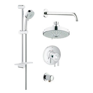 "Grohe, Shower System, Chrome, 12""x16""x6"""
