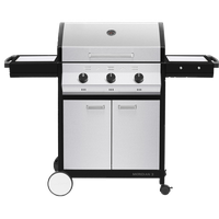 Meridian 3 Propane Gas BBQ Grill with 3 Burners, Stainless Steel