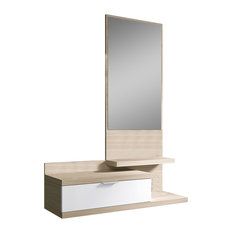 Dahlia Shelving Unit With Mirror