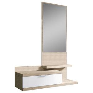 Dahlia Shelving Unit With Mirror