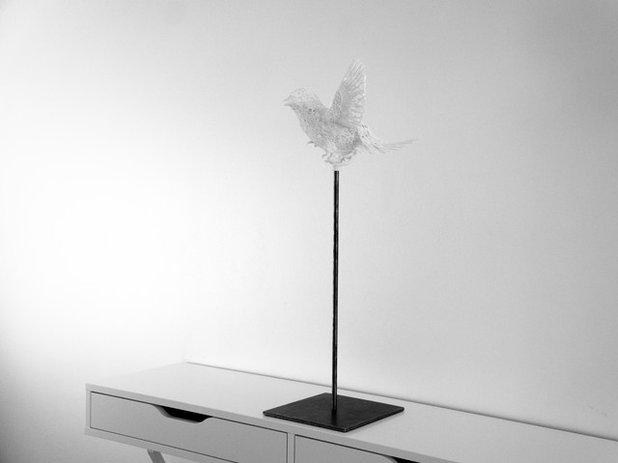 Contemporain Sculpture Bird Travel
