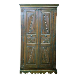 Mogul Interior - Consigned Teak Britsh Colonial Cabinet Bedroom Almira Furniture - Armoires And Wardrobes