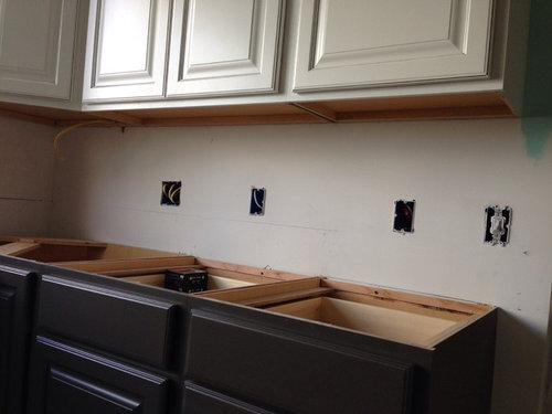 Painted Semi Custom Upper Cabinets Be, Painting Unfinished Cabinets