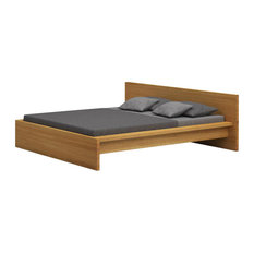 Loft Wooden Panel Bed, Oak, Euro Double