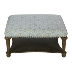 Madison Park Signature - Darcy Ottomon With Shelf - Footstools and Ottomans