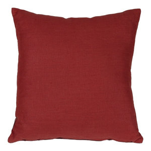 Pillow Decor - Tuscany Linen Red 17 Throw Pillow, 20x20