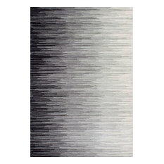 Electricity Ombre Rug, Black, 2'x3'