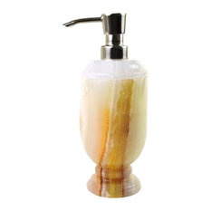 Lotion Dispenser, White Onyx