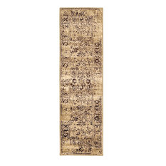"""Traditional Prudence 2'2""""x7'6"""" Runner Oatmeal Area Rug"""