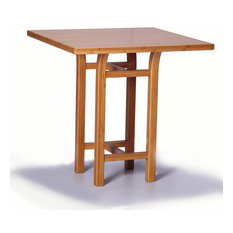 Greenington LLC   Greenington Tulip Counter Height Table In Classic Bamboo    Caramelized   Side Tables
