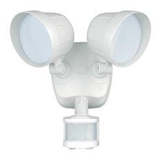 Vaxcel Delta Dualux 2-Level LED Motion Sensor Security Light, White