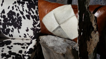 Reversible leather hide cushion