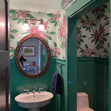Color and pattern enhance a classically designed North Shore home