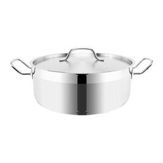 Optima Stainless Steel Stockpot With Lid, 24 cm