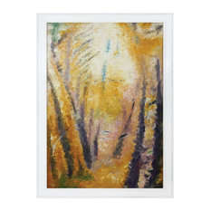 Handpainted Fall Trees On Canvas Made Of Mahogany/Hand-Stretched Canvas In