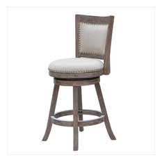 """Boraam Industries, Inc. - Melrose 24"""" Counter Stool, Driftwood Gray Wire-brush - Bar Stools and Counter Stools"""